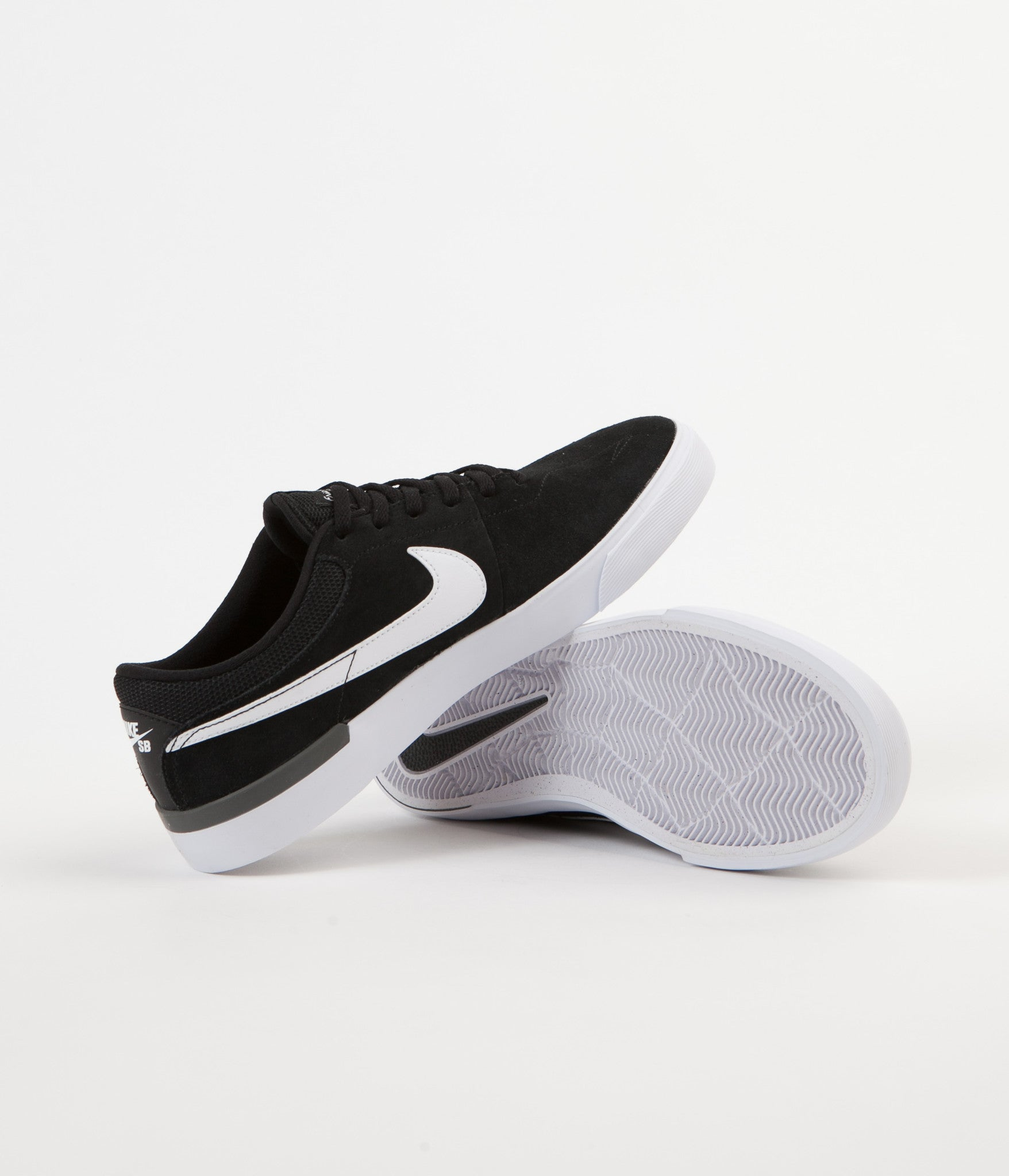 Nike SB Koston Hypervulc Shoes - Black / White - Dark Grey