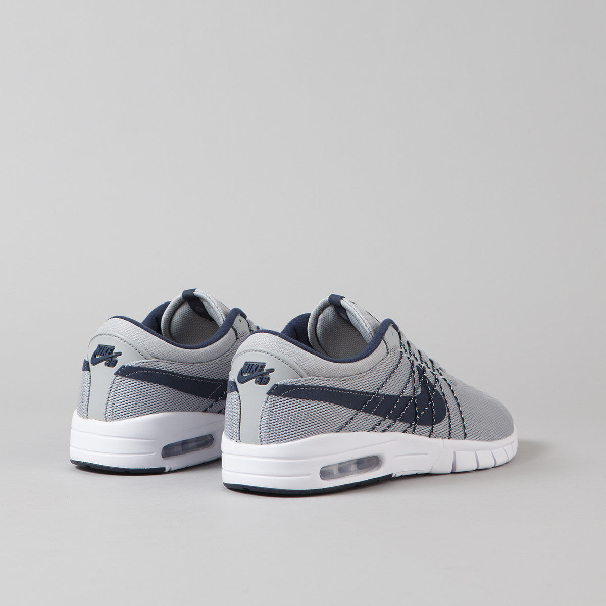 Nike SB Koston Max Shoes - Wolf Grey / Obsidian - White