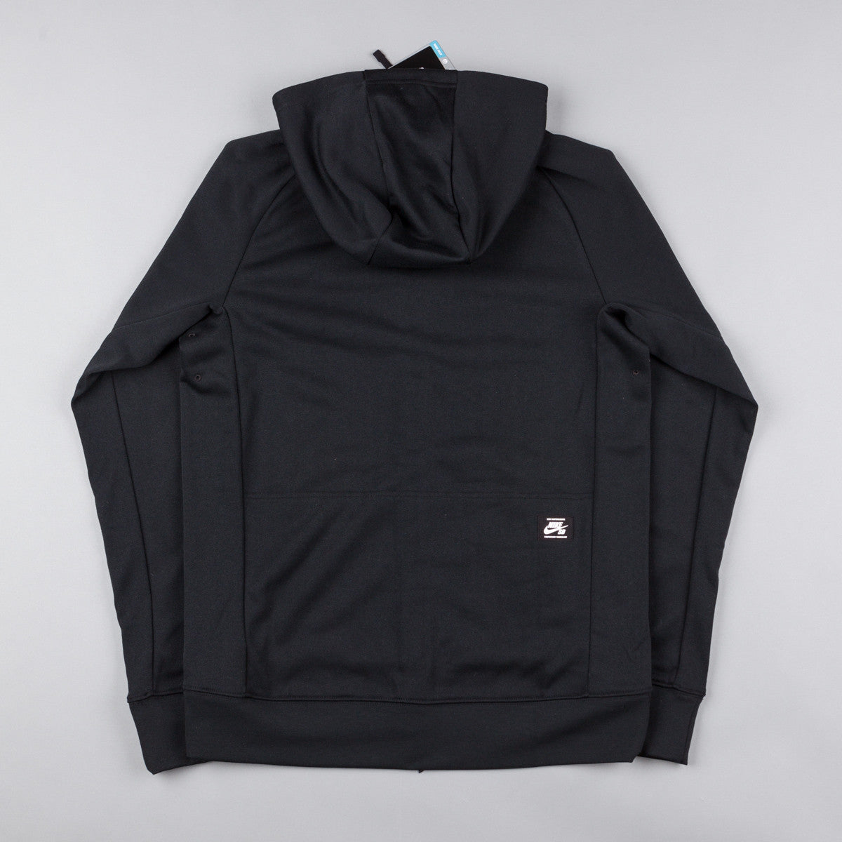 Nike SB Lightweight Everett Dri-Fit Full Zip Hooded Sweatshirt - Black / White