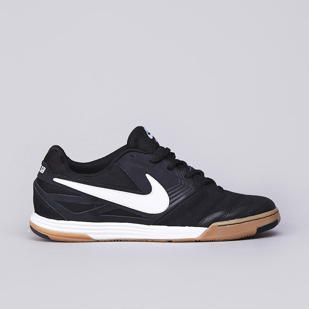 Nike SB Lunar Gato Black / White - Gum Medium Brown