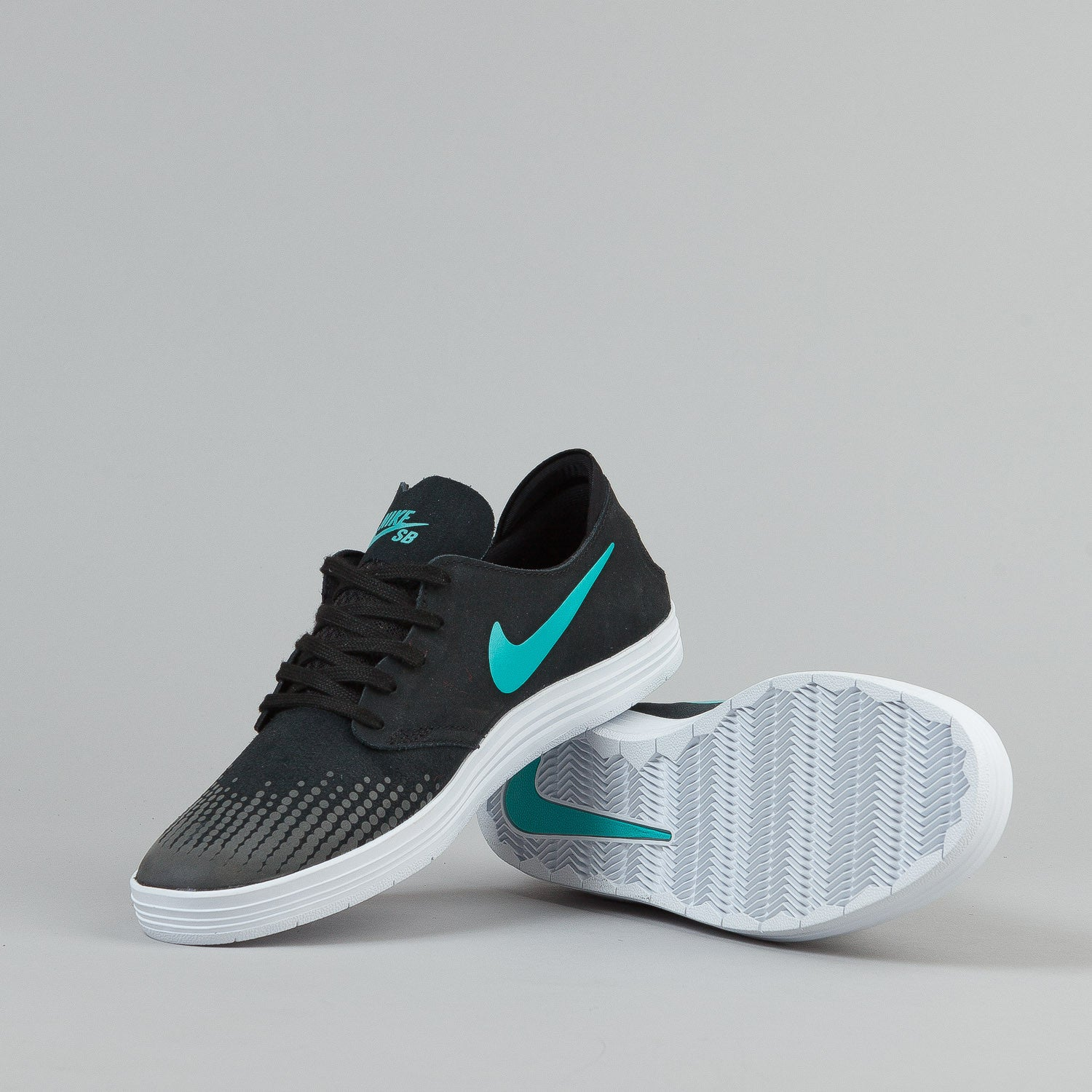Nike SB Lunar Oneshot Shoes - Black / Lt Retro / White