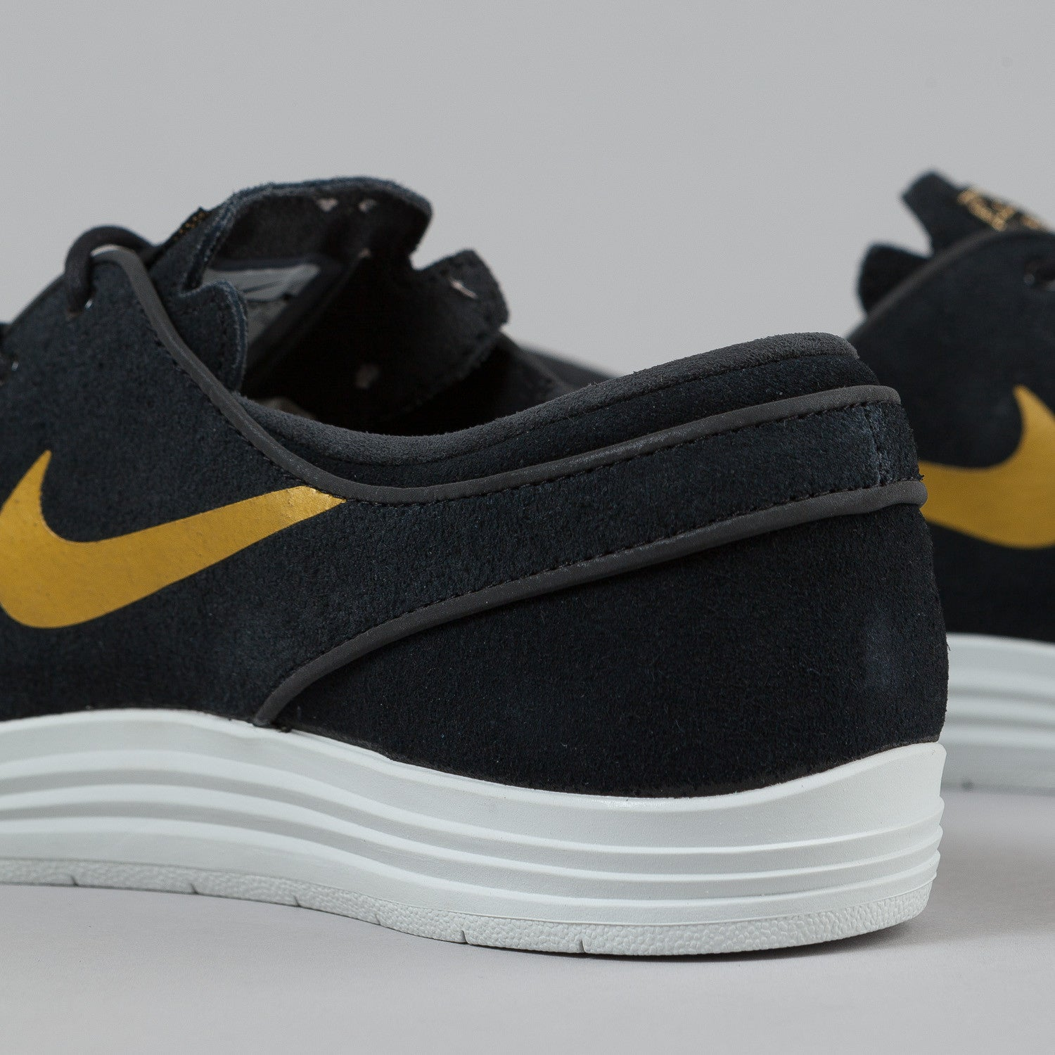 Nike SB Lunar Stefan Janoski Black/Metallic Gold - Summit White