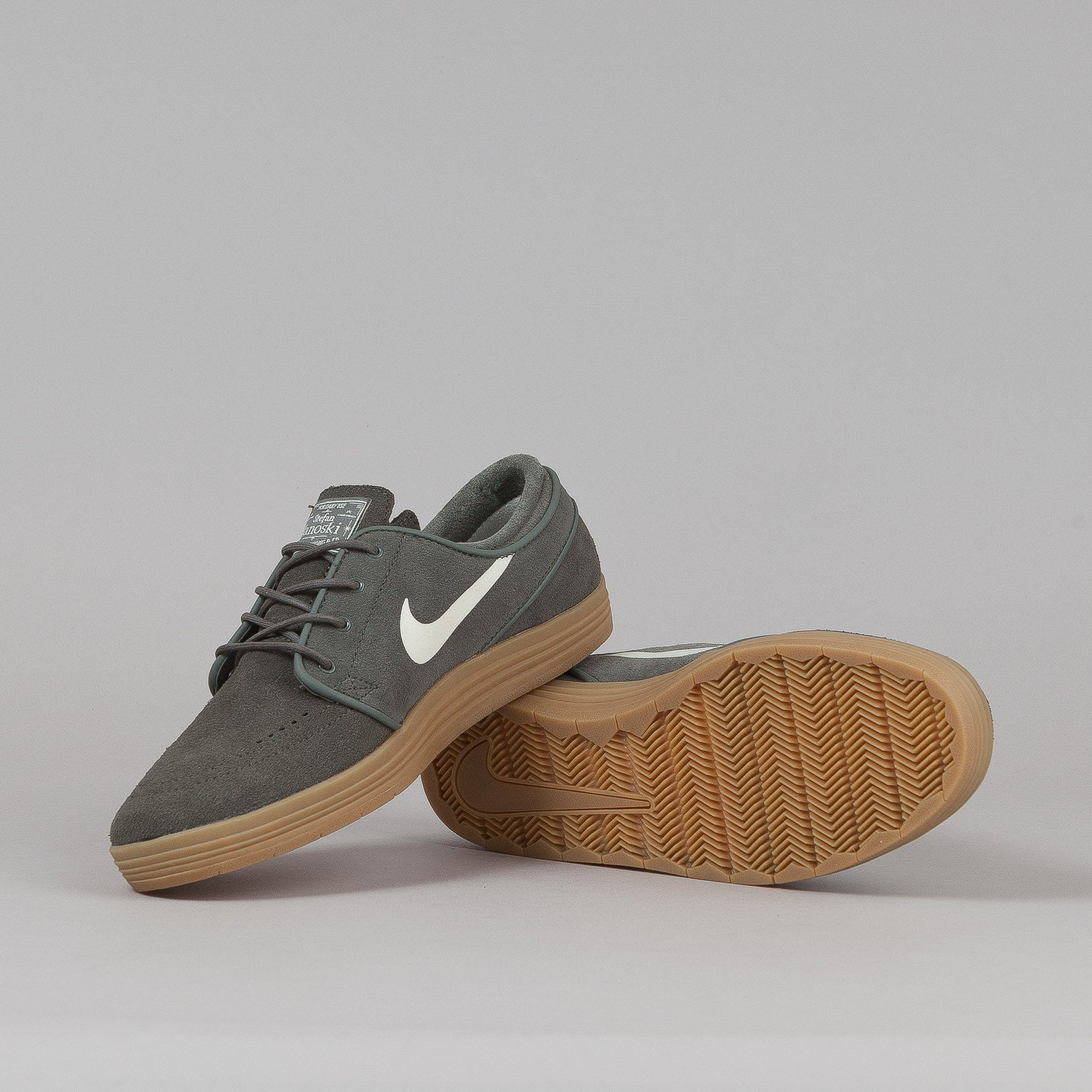 Nike SB Lunar Stefan Janoski Shoes River Rock / Sail - Gum Light Brown