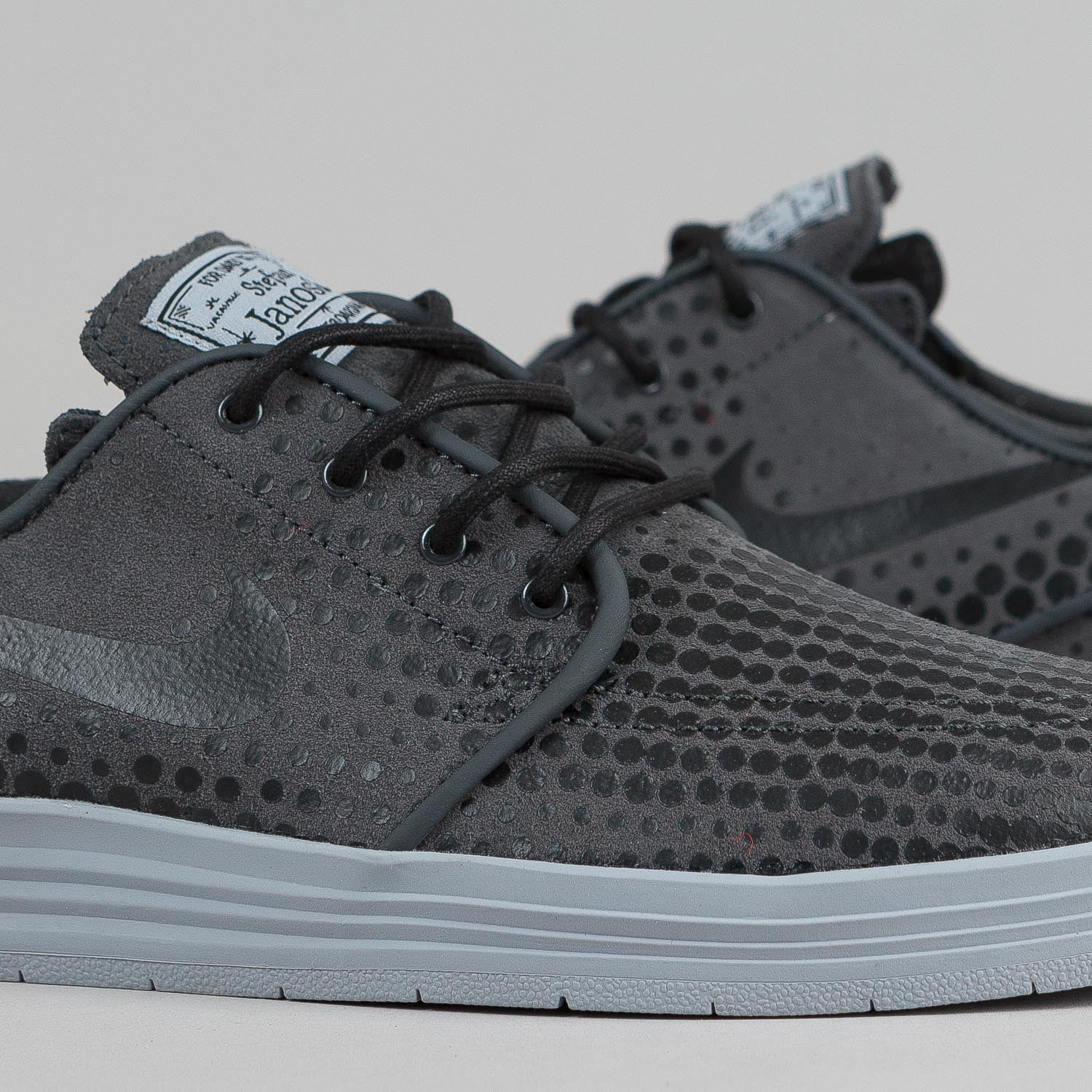 Nike SB Lunar Stefan Janoski Shoes Anthracite / Black - Wolf Grey