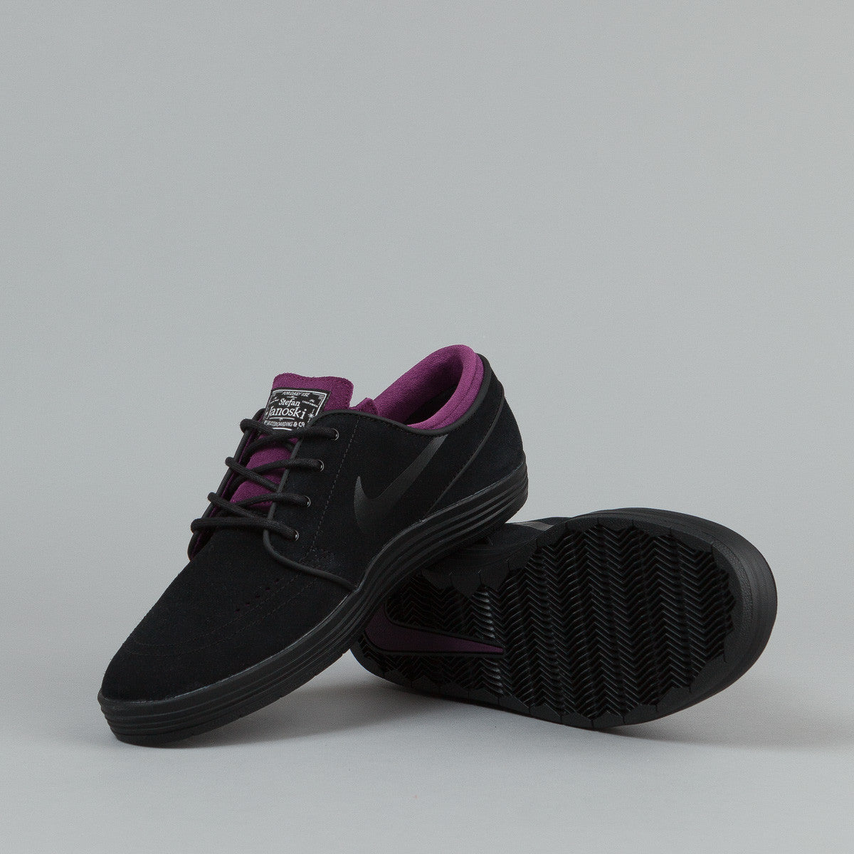 Nike SB Lunar Stefan Janoski Shoes - Black / Black - Mulberry