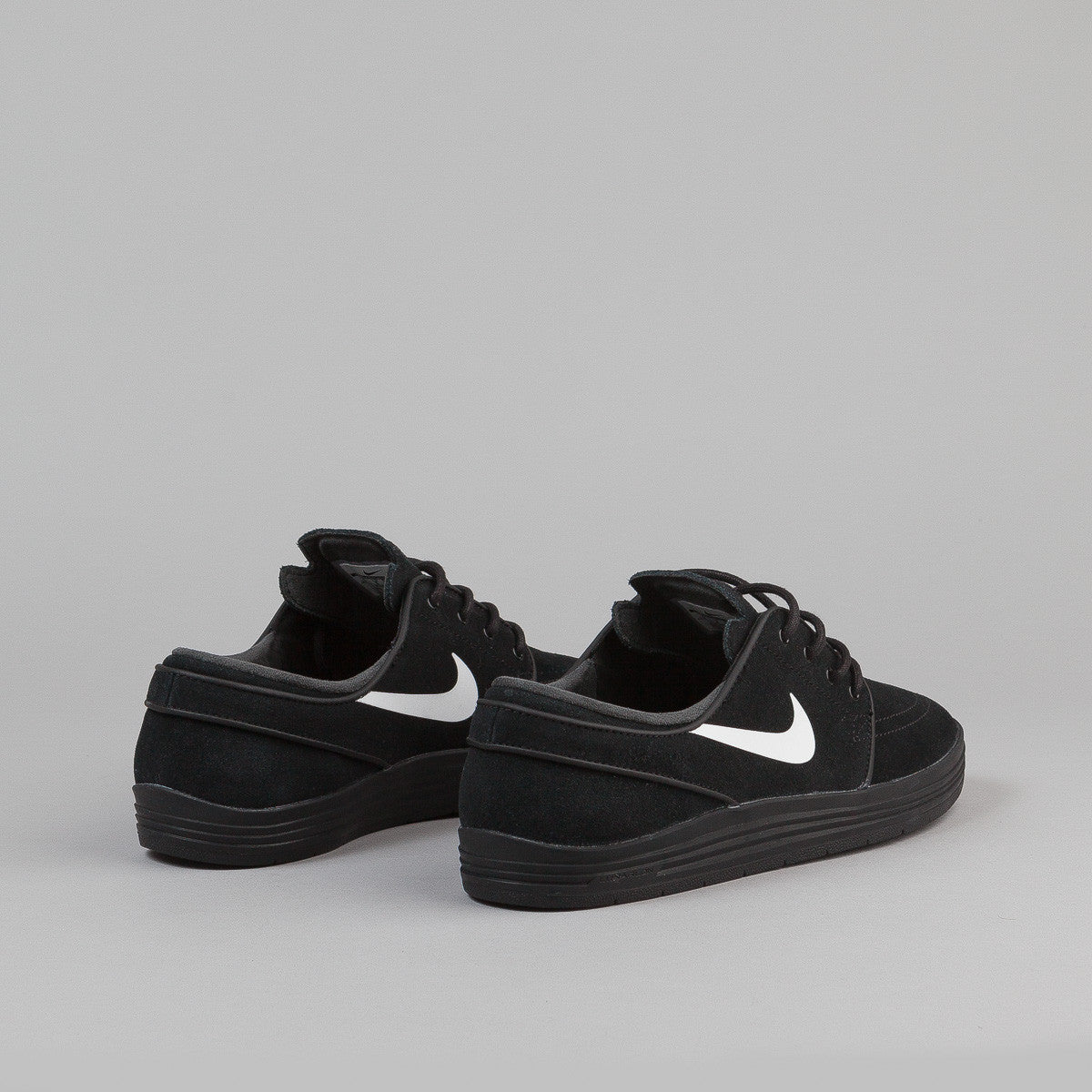 Nike SB Lunar Stefan Janoski Shoes - Black / Black - White