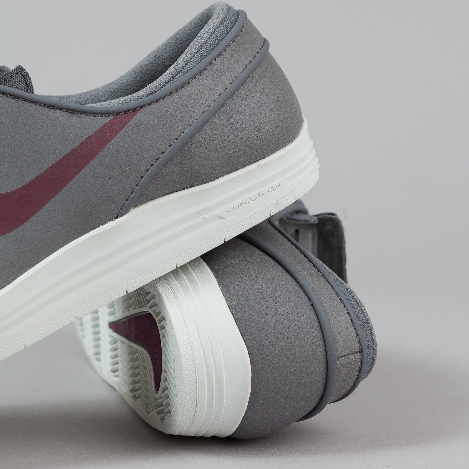 Nike SB Lunar Stefan Janoski Shoes - Cool Grey / Villain Red / Anthracite