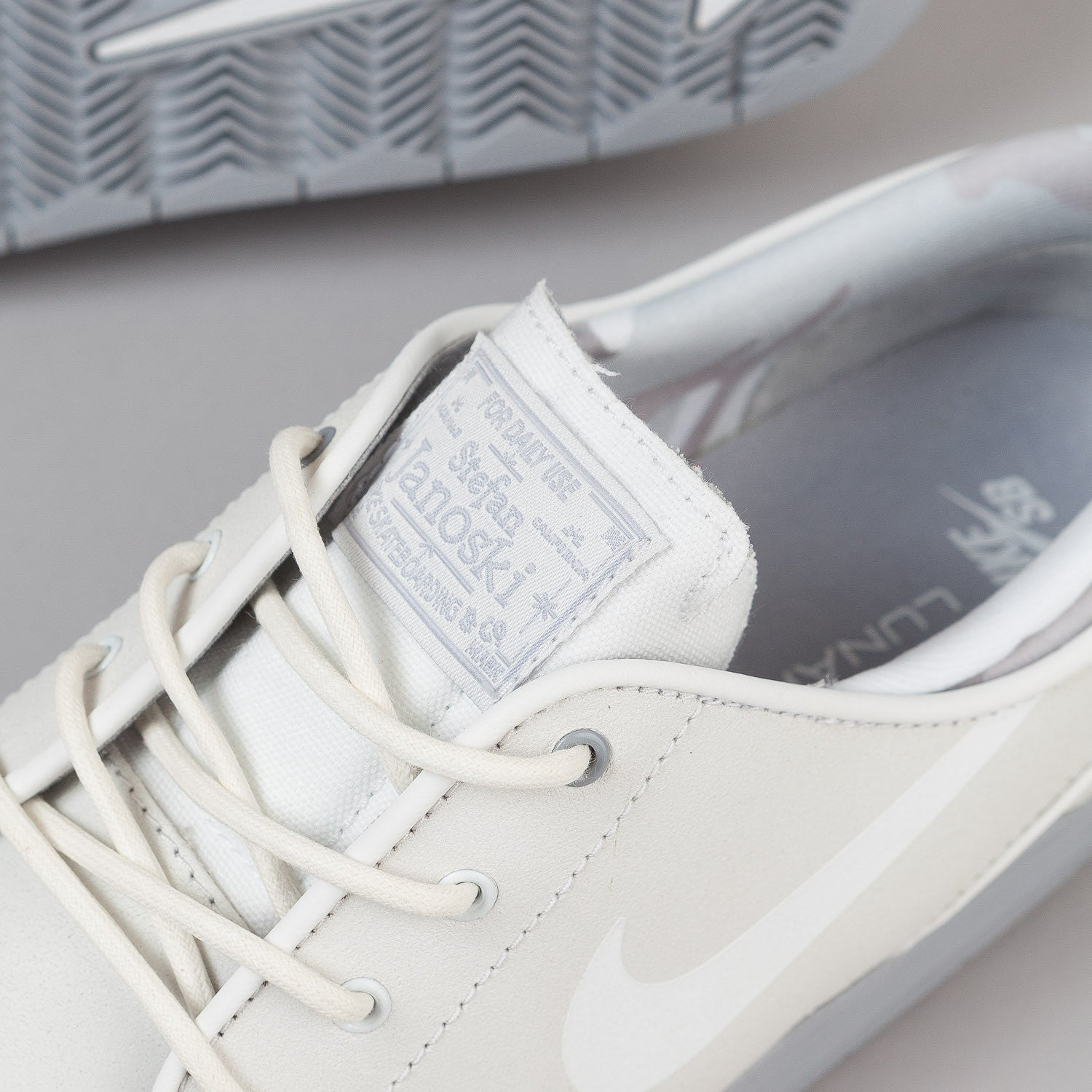 Nike SB Lunar Stefan Janoski Shoes - Summit White / White / Wolf Grey
