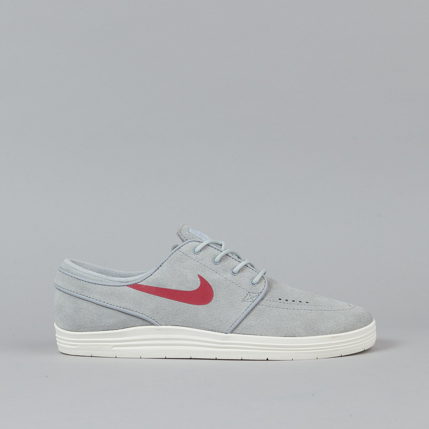 Nike SB Lunar Stefan Janoski Shoes Wolf Grey / Gym Red
