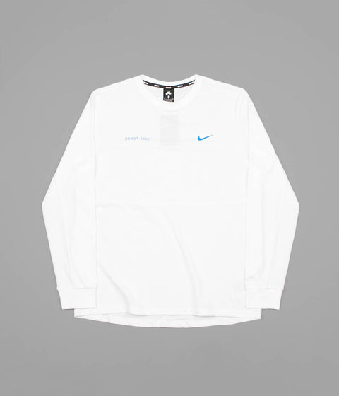 Nike SB Mesh Long Sleeve T-Shirt - White / Photo Blue