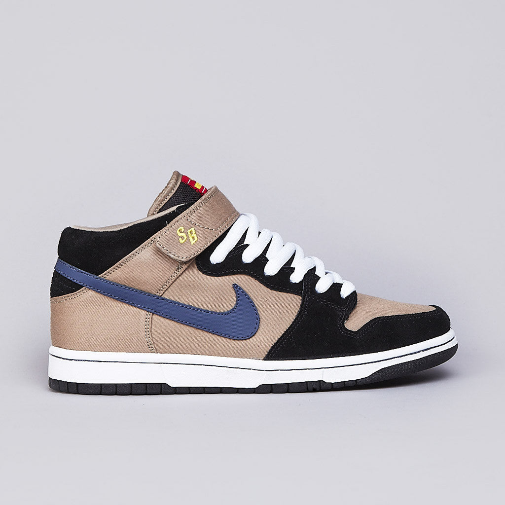 Nike SB Dunk Mid Premium Khaki / Medium Denim