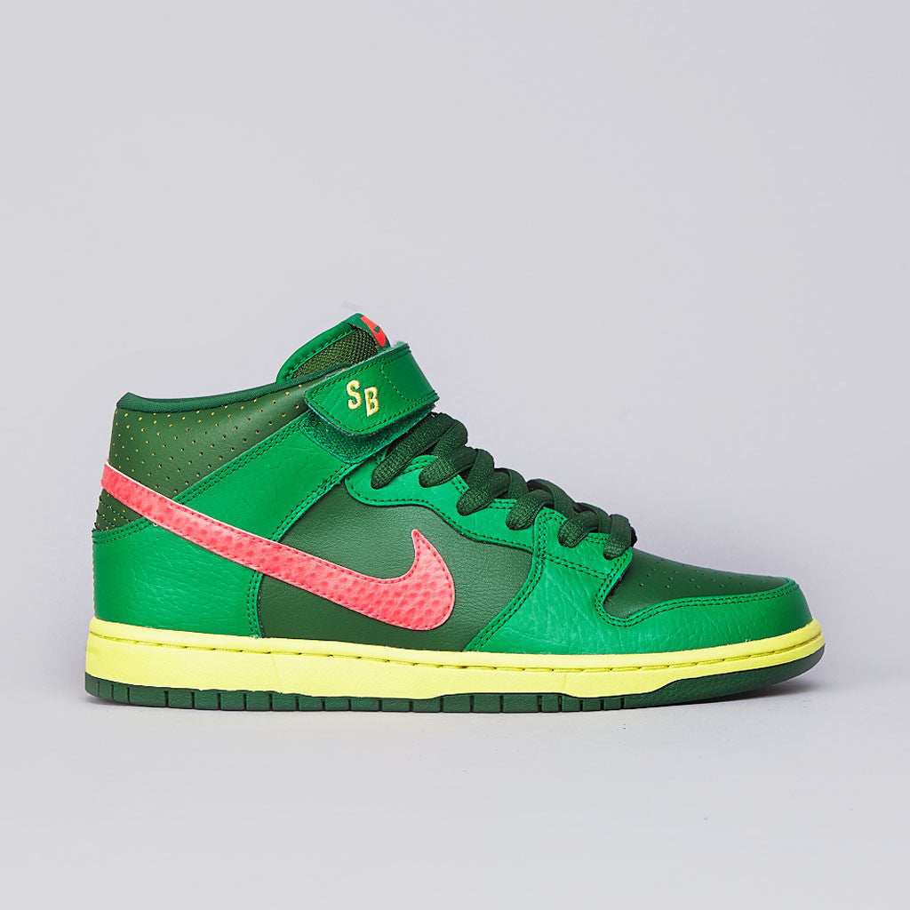 Nike SB Dunk Mid Pro Lucky Green / Atomic red - Green