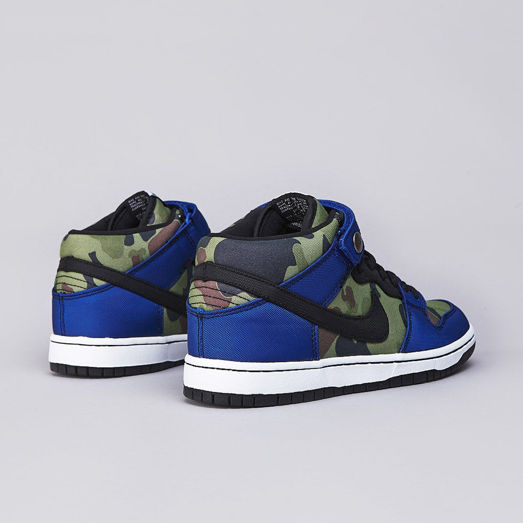 Nike SB Dunk Mid Pro Premium Old Royal / Black - White