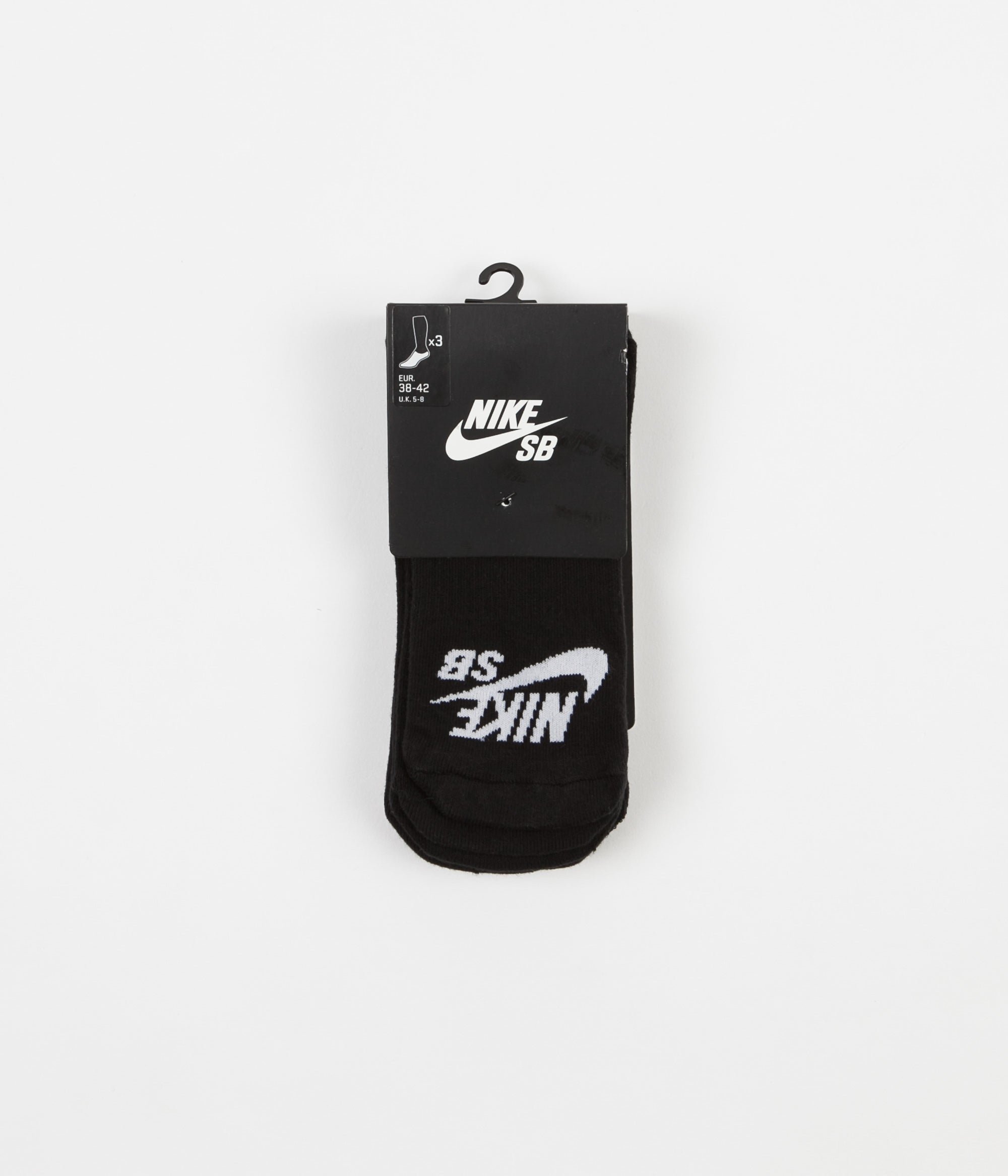 Nike SB No Show Skateboarding Socks - Black / White