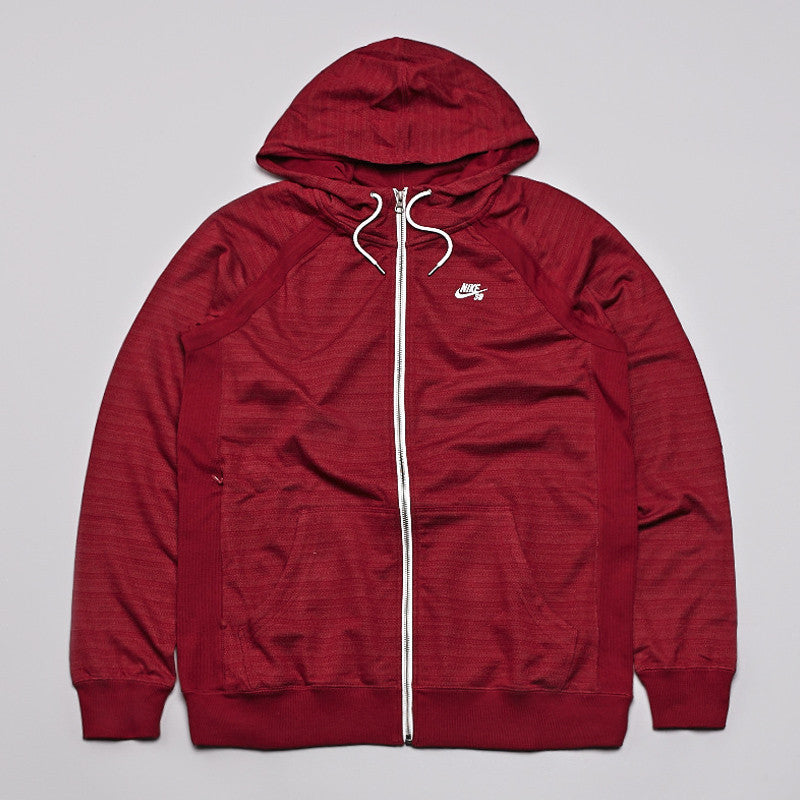 Nike SB Northrup Icon Zipped Hooded Sweatshirt Team Red / White