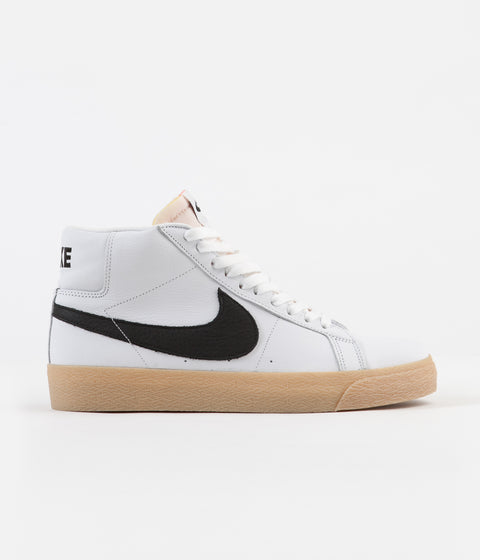 finest selection df55a c0797 Nike SB Orange Label Blazer Mid Shoes - White   Black - Safety Orange
