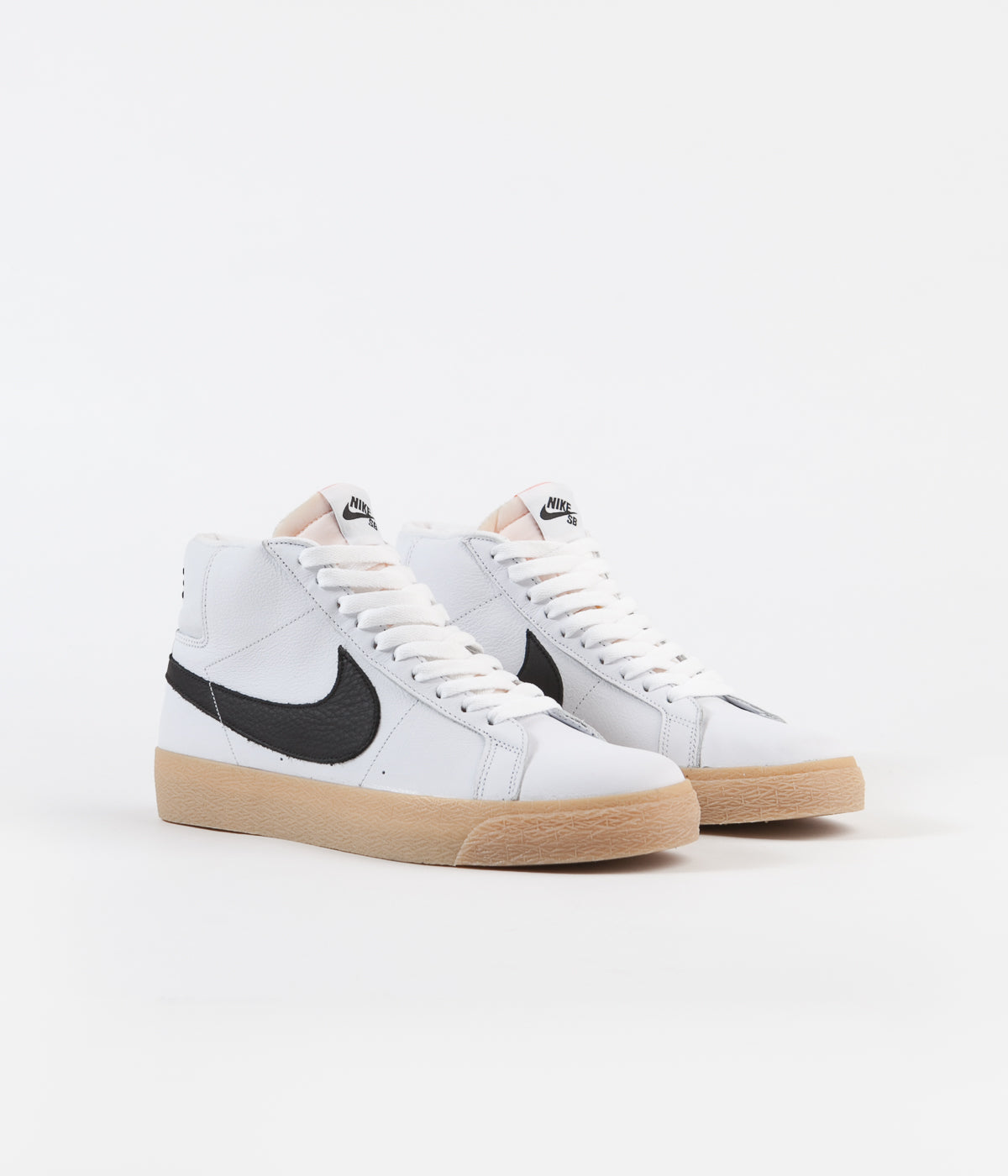 Nike SB Orange Label Blazer Mid Shoes - White / Black - Safety Orange