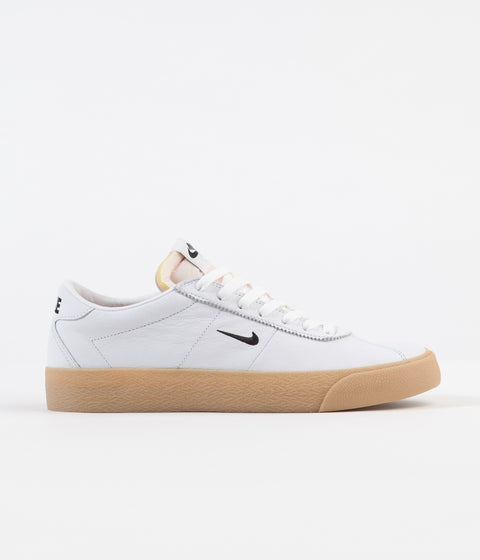 Nike SB Orange Label Bruin Shoes - White / Black - Safety Orange