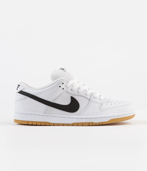 buy online 817e5 35d73 Nike SB Orange Label Dunk Low Pro Shoes - White / Black - Gum