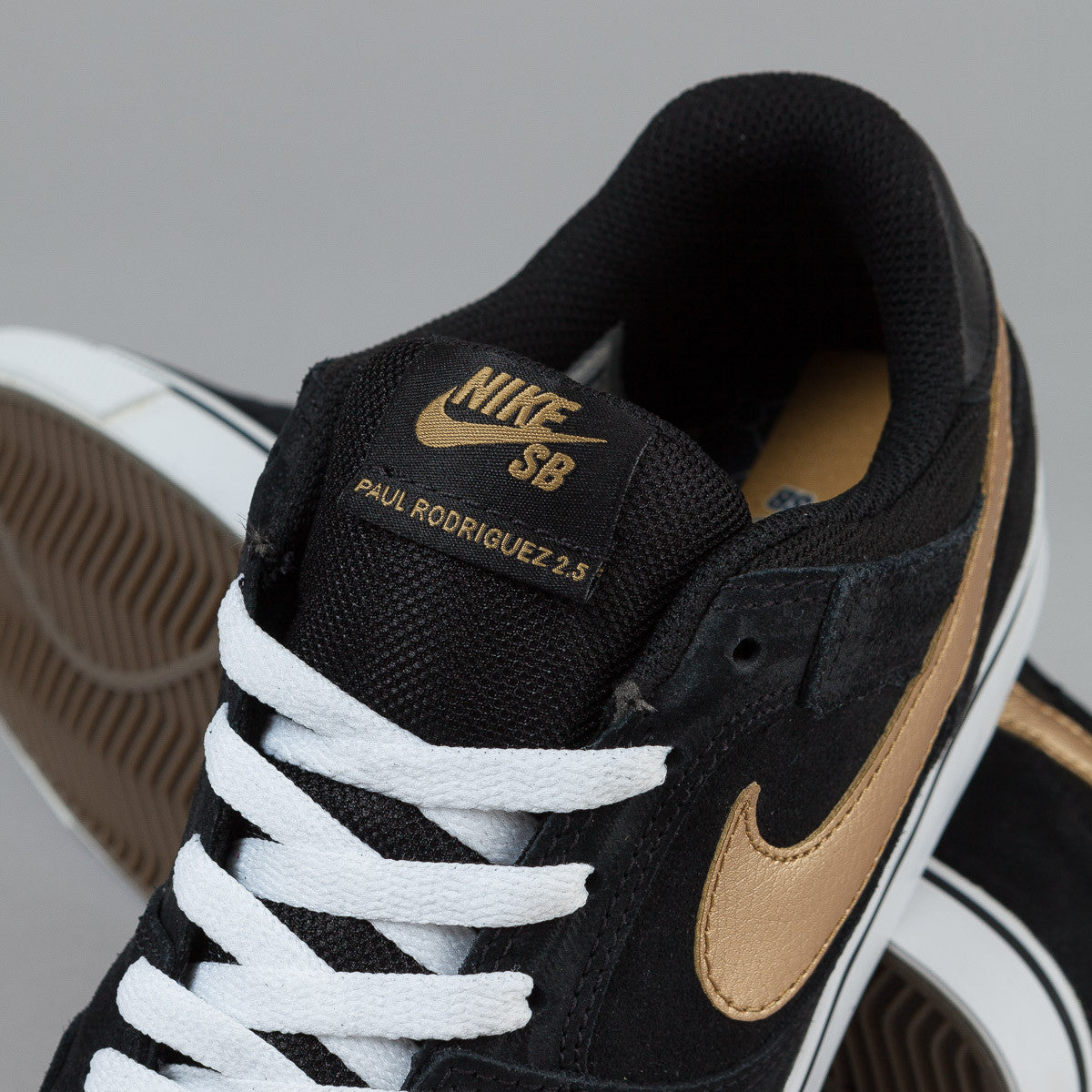 Nike SB Paul Rodriguez 2.5 Shoes - Black / Metallic Gold