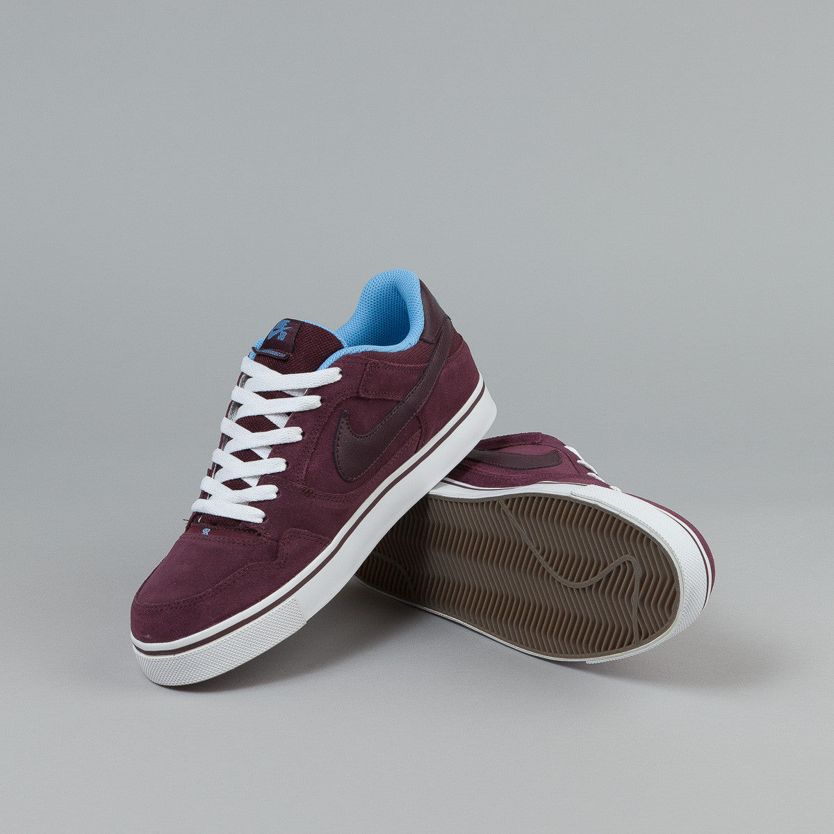 Nike SB Paul Rodriguez 2.5 Shoes - Deep Burgundy / University Blue