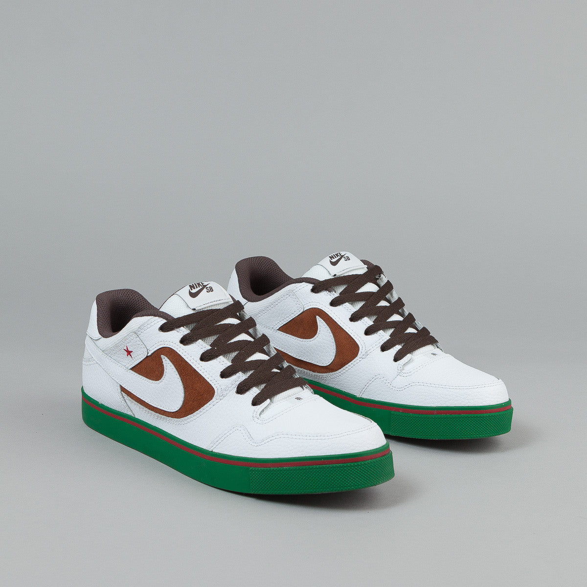 Nike SB Paul Rodriguez 2.5 Shoes - Pecan / White - Dark Chocolate