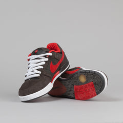 Nike SB Paul Rodriguez 2 Shoes - Newsprint / Sport Red