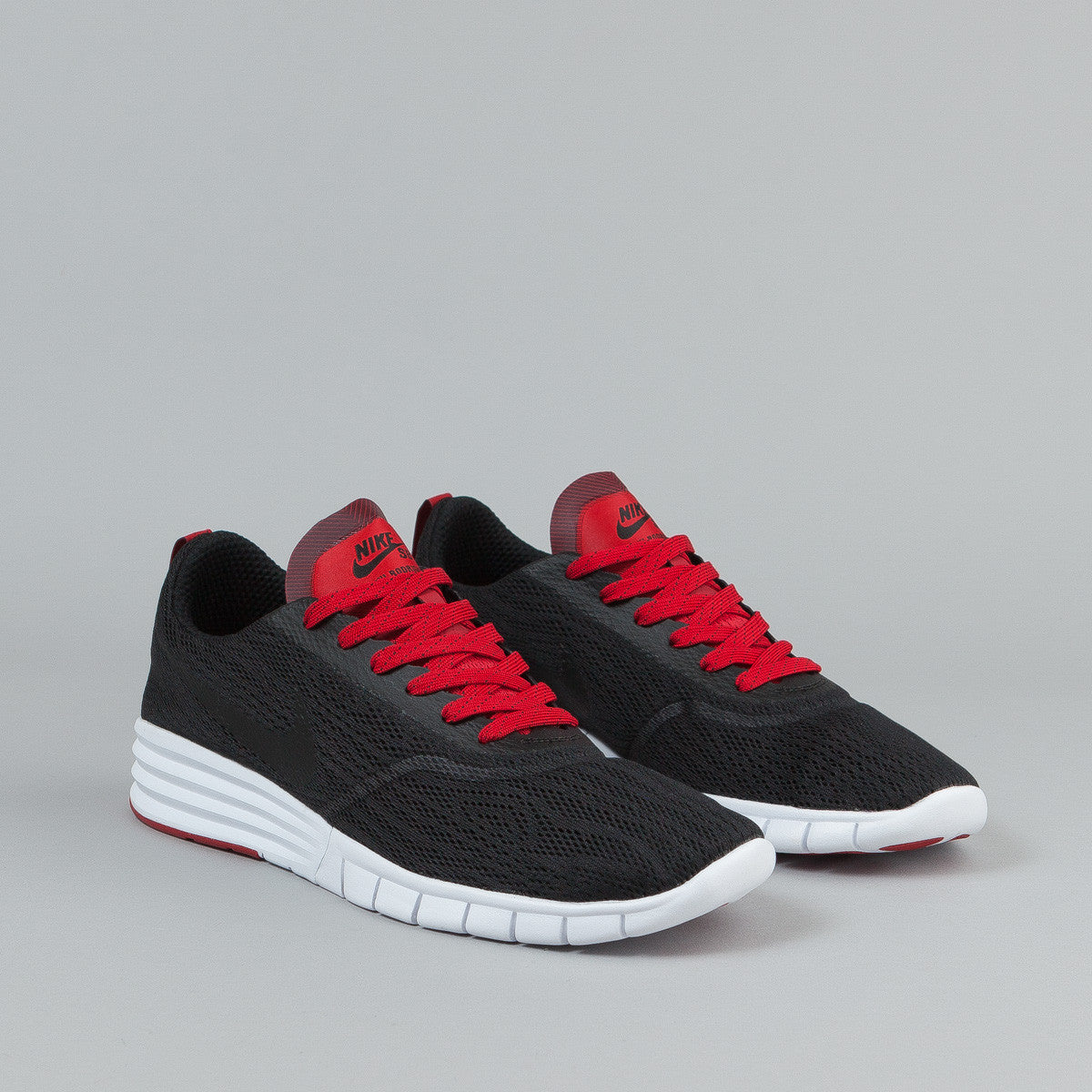 Nike SB Paul Rodriguez 9 R/R Shoes - Black / Black - Gym Red - White