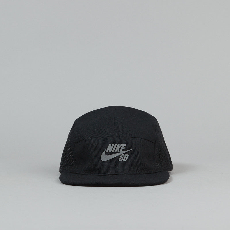 Nike SB Performance 5 Panel Cap - Black / Reflective Silver