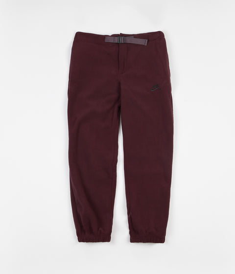 Nike SB Polartec Sweatpants - Burgundy Crush / Black