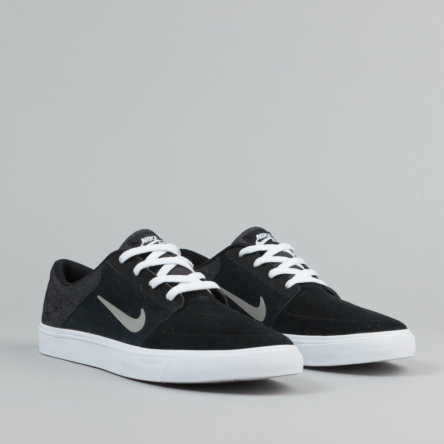 Nike SB Portmore Shoes - Black / Medium Grey / White