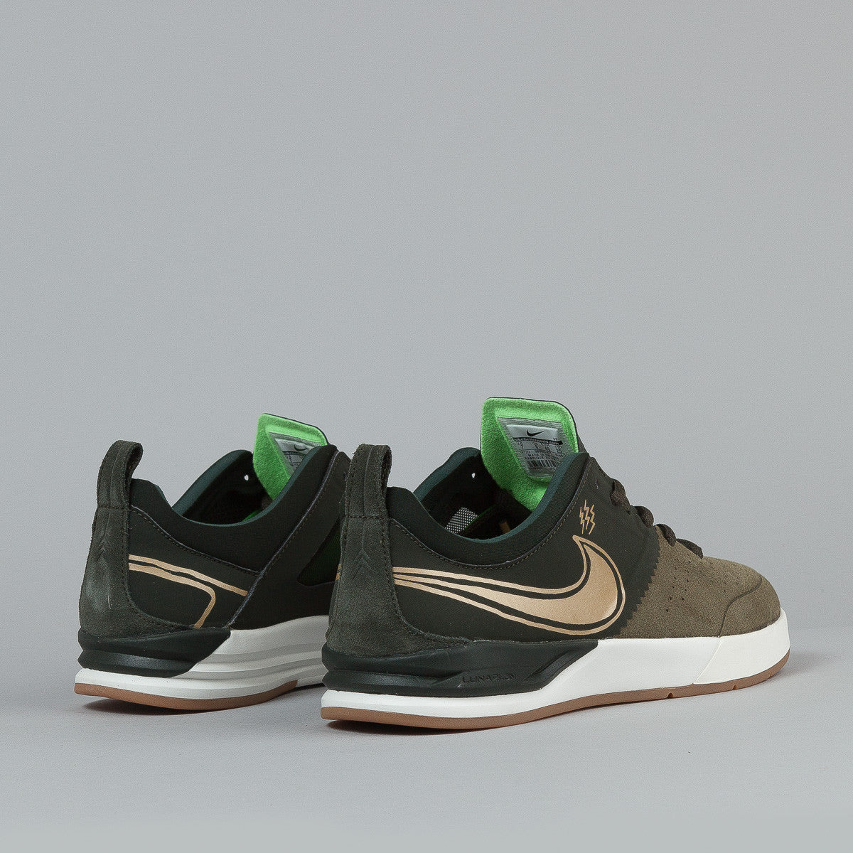 Nike SB Project BA Premium Sequoia / Metallic Gold / Medium Olive / Flash Lime