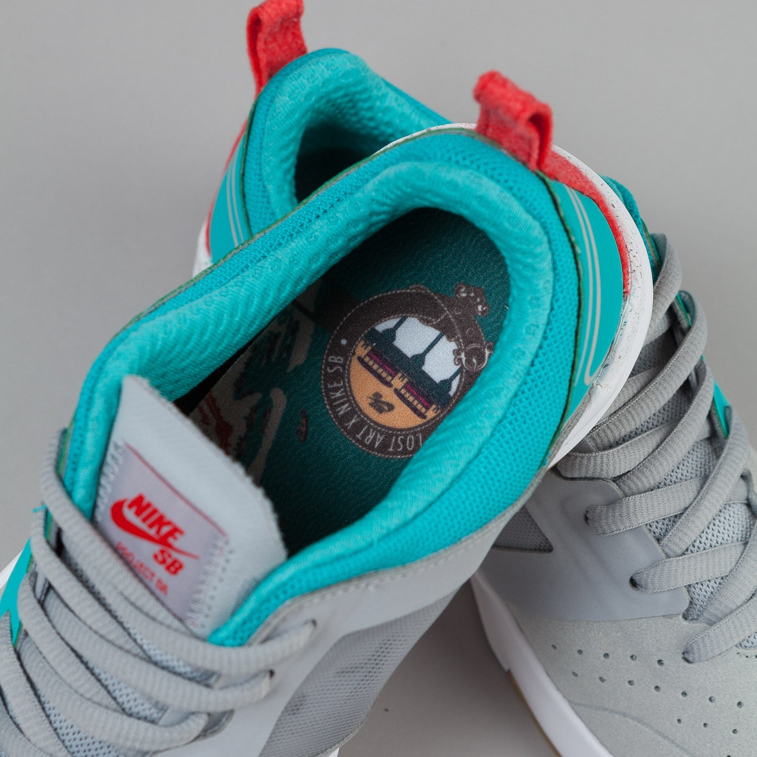 Nike SB Project BA Premium Shoes 'Lost Art' - Wolf Grey / Metallic Silver / Dusty Cactus