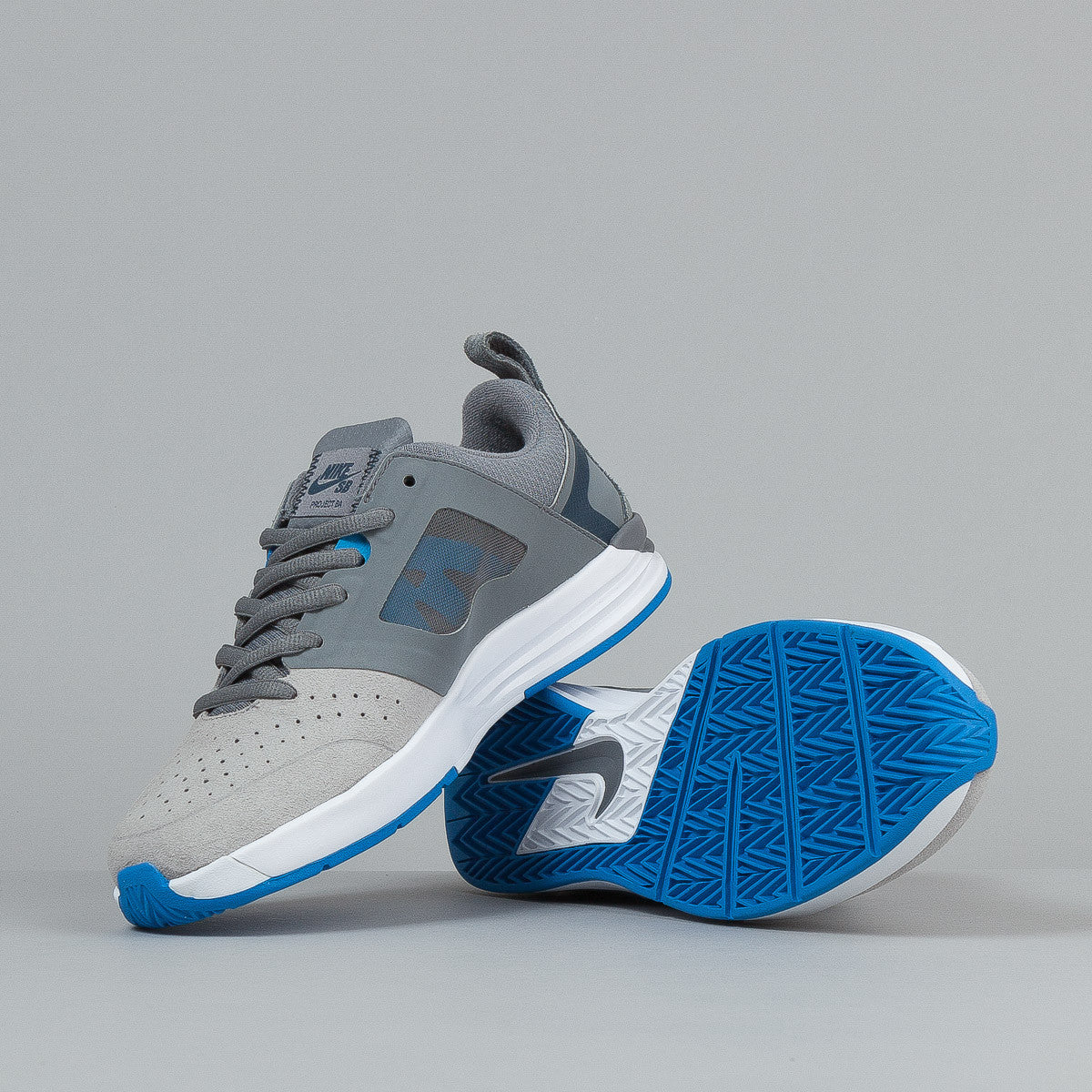 Nike SB Project BA Shoes - Cool Grey / Armory Navy / Metallic Silver