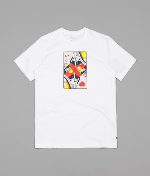 Nike SB Queen Card T-Shirt - White   Habanero Red 9a32aee7b93