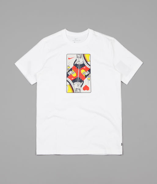 8ee4a42d8 Nike SB Queen Card T-Shirt - White / Habanero Red | Flatspot