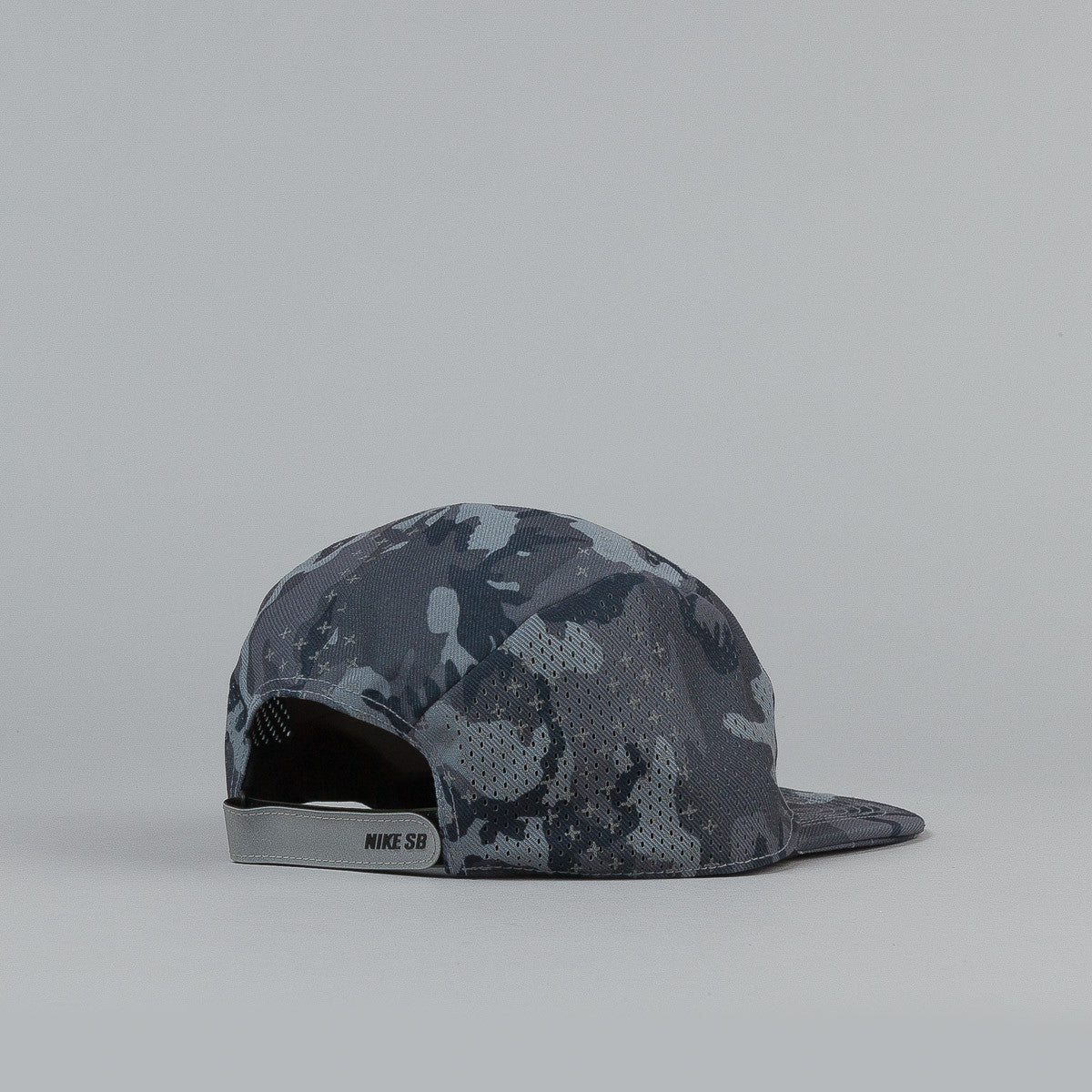 Nike SB Reflective Icon 5 Panel Cap - Grey Camo