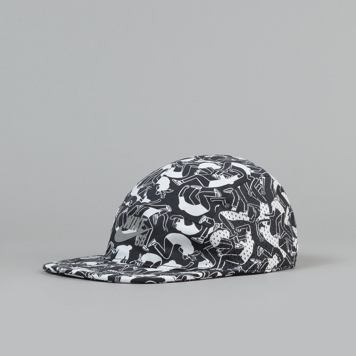 Nike SB Reflective Icon Snapback Cap -- White / Black