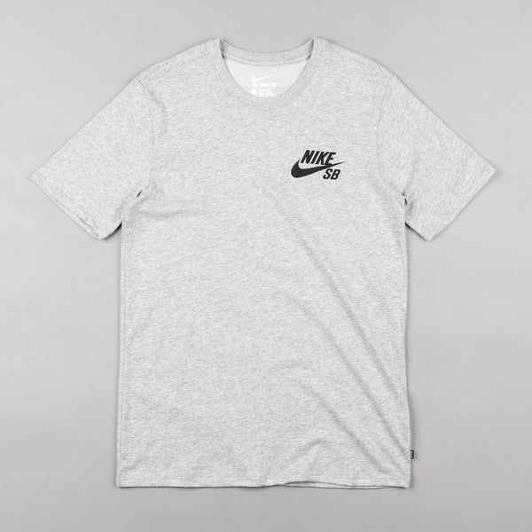 Nike SB Ripped T-Shirt - Dark Grey Heather / Dark Grey Heather / Black