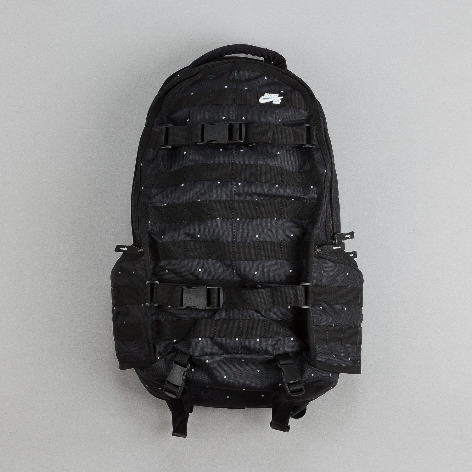 nike sb rpm backpack black white flatspot