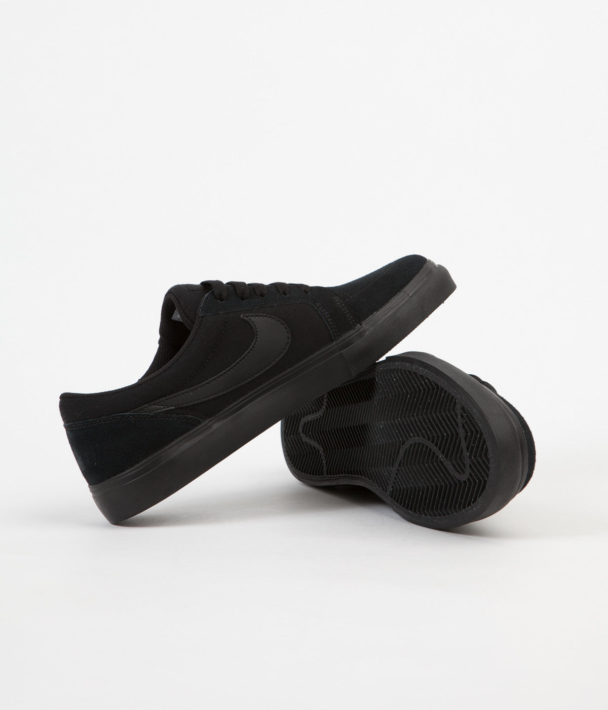 argumento visual María  Nike SB Satire II Shoes - Black / Black - Anthracite | Flatspot