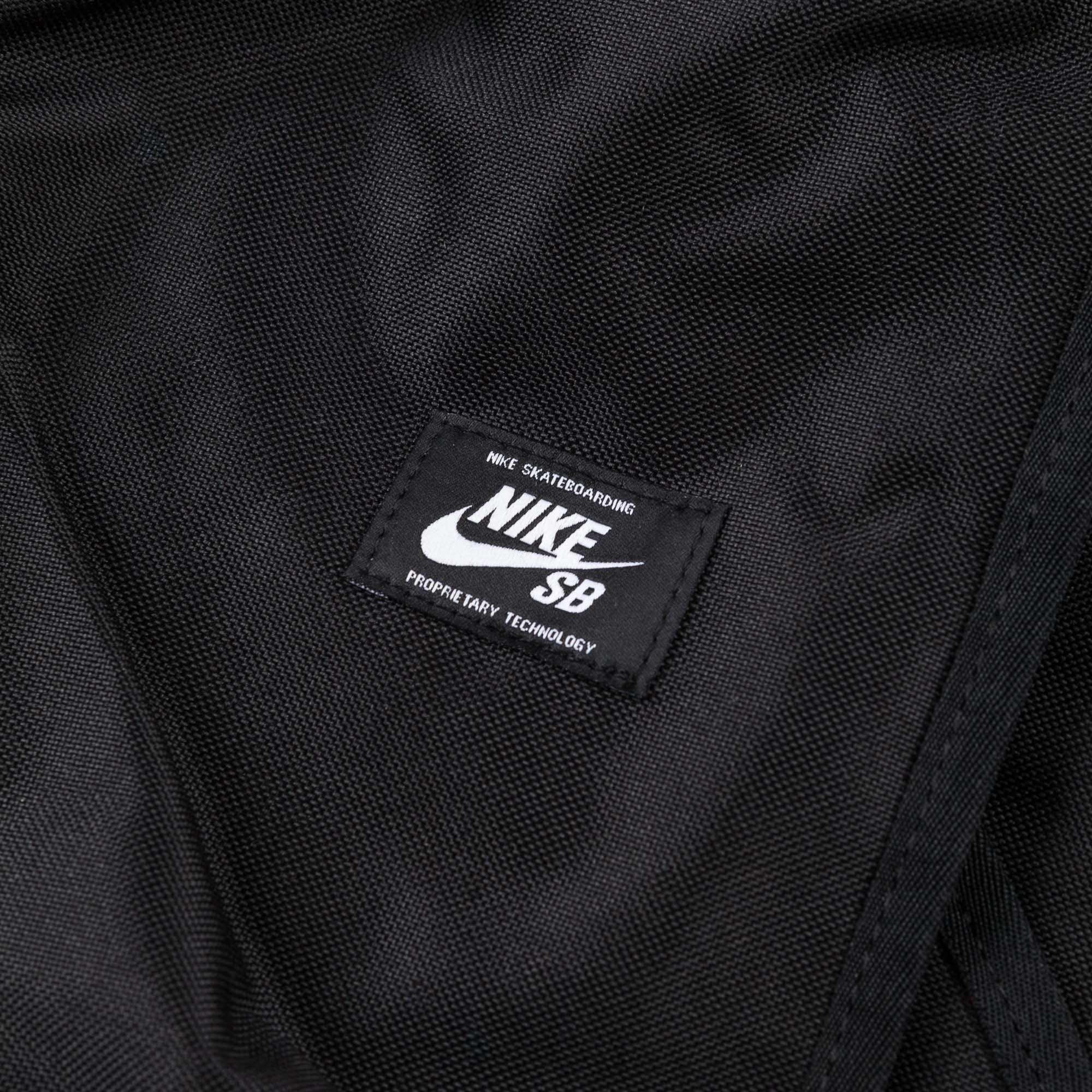 Nike SB Shelter Skateboarding Backpack - Black / Black / White