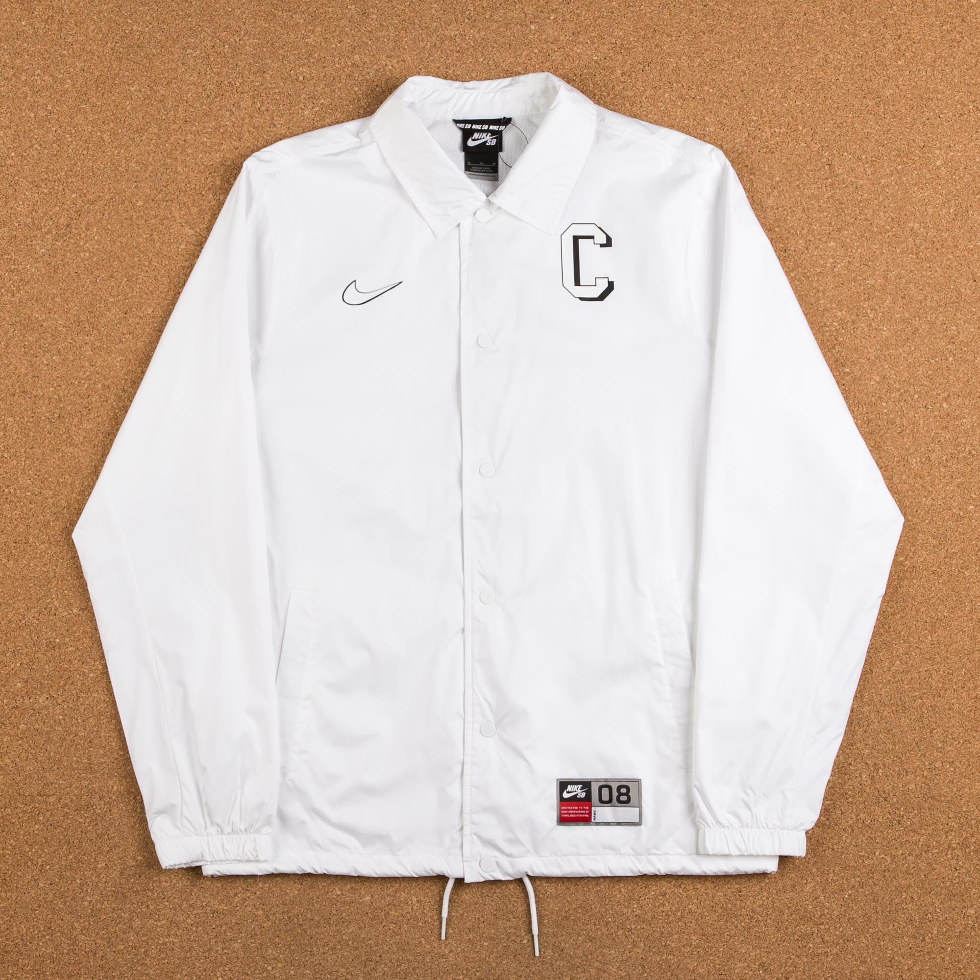ae6c83f7e013 Nike SB Shield Jacket - White   Black