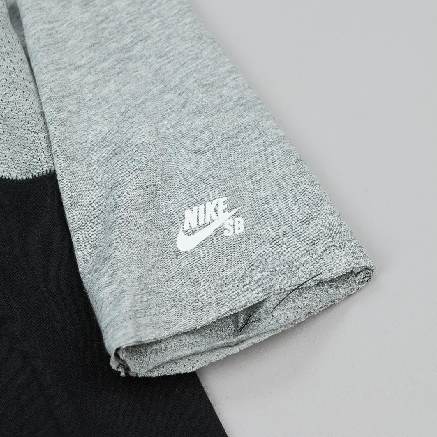 Nike SB Skyline DFC 3/4 Sleeve Raglan T-Shirt - Black / Grey Heather