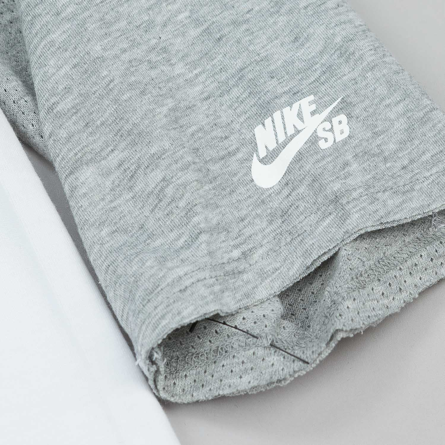 Nike SB Skyline DFC 3/4 Sleeve Raglan T-Shirt - White / Grey Heather
