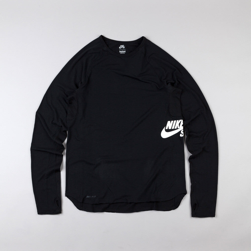Nike Sb Skyline Dri-Fit LS Crew T Shirt Black