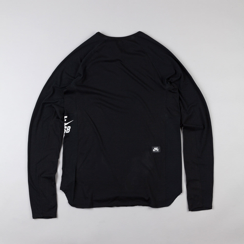 Nike Sb Skyline Dri-Fit Long Sleeve Crew T Shirt Black