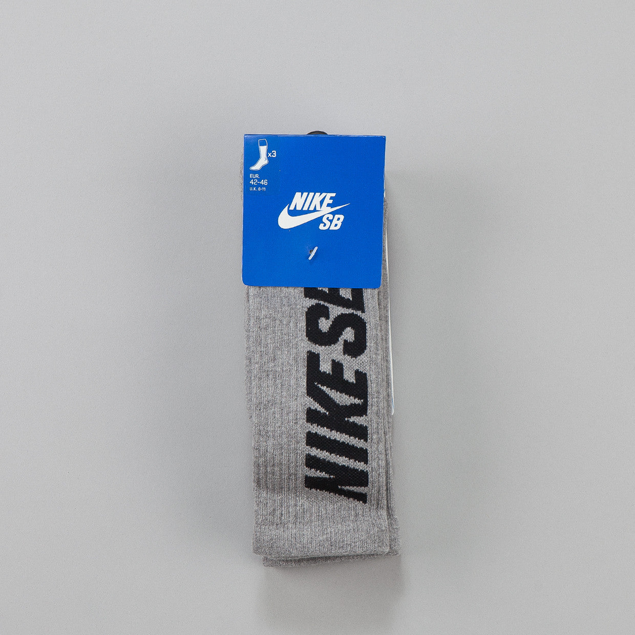 Nike SB Elite Skate 3-pack Crew Socks Dark Grey Heather