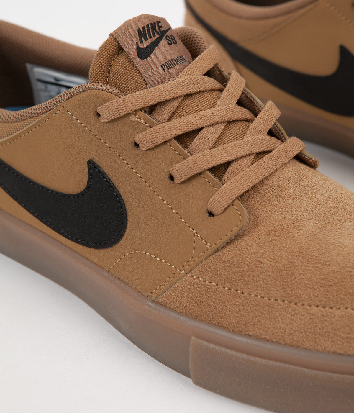 size 40 830ba f470c ... Nike SB Solarsoft Portmore II Shoes - Golden Beige  Black - Gum Light  Brown ...