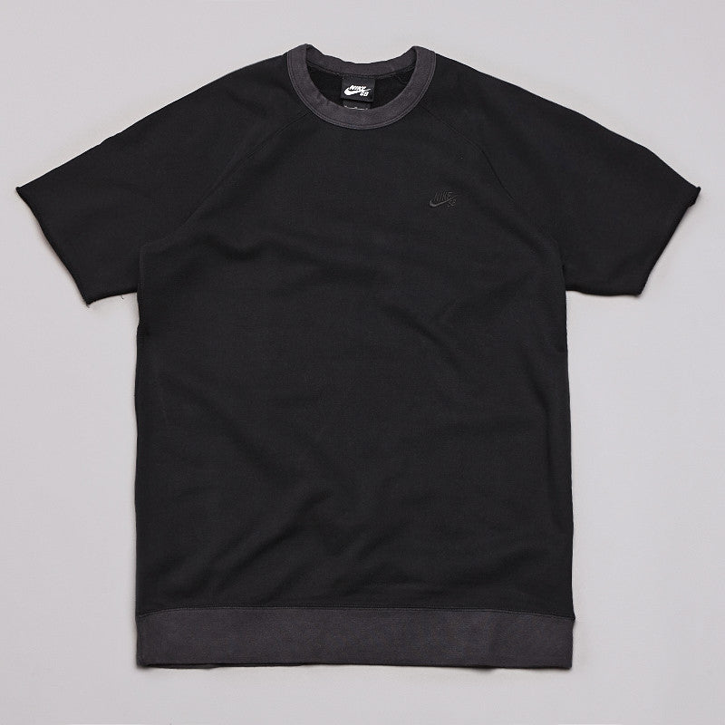 Nike SB Short Sleeve Crew Sweatshirt Black / Anthracite